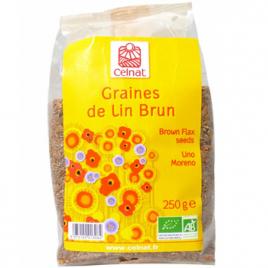 Celnat Graines de lin brun BIO 250g Celnat Epicerie Onaturel.fr