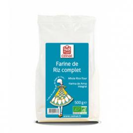 Celnat Farine de Riz complet 500g Celnat Farines Bio Onaturel.fr