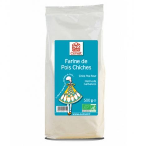Celnat Farine de Pois Chiches 500g Celnat Farines Bio Onaturel.fr