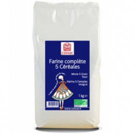 Celnat Farine complète 5 Céréales 1kg Celnat Farines Bio Onaturel.fr