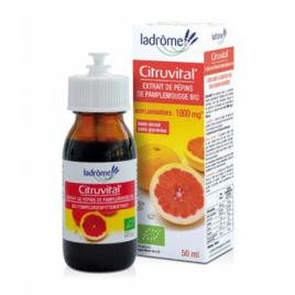 Ladrome Citruvital extrait de pépins de pamplemousse 1000 mg 50ml Ladrome Compléments Alimentaires Bio Onaturel.fr