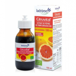 Ladrome Citruvital extrait de pépins de pamplemousse 1000 mg 100ml Ladrome Immunité Onaturel.fr
