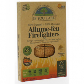 If You Care Allume feu 100% naturel 28 cubes If You Care Alimentation Bio Onaturel.fr