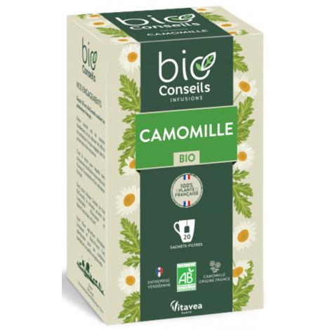 Bio Conseils Infusion Camomille bio Bien digérer pour mieux dormir 20 sachets 32g Bio Conseils Digestion Onaturel.fr