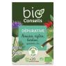 Bio Conseils Infusion Dépurative bio 20 sachets 32 g Bio Conseils Détoxication Onaturel.fr