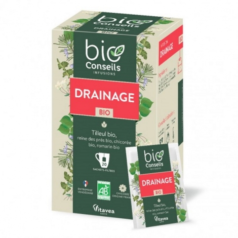 Bio Conseils Infusion Drainage bio 20 sachets 30g Bio Conseils Détoxication Onaturel.fr