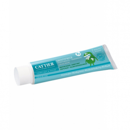 Cattier Dentifrice enfants +7 ans protection fluor goût menthe douce 50ml Cattier Dentifrices bio Onaturel.fr