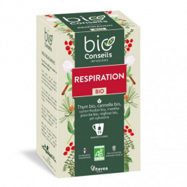 Bio Conseils Infusion Respiratoire bio 20 sachets 30g  Rhume- Gorge-Bronches- Nez Onaturel.fr