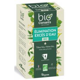 Bio Conseils Infusion Excès d'eau Elimination bio 20 sachets 26 g Bio Conseils Elimination Onaturel.fr