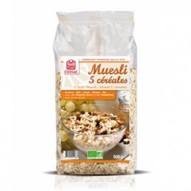 Celnat Muesli 5 céréales 500 g Celnat Muesli Bio Onaturel.fr