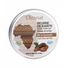 Oleanat Beurre de karité extra pur Bio équitable sans parfum 100ml