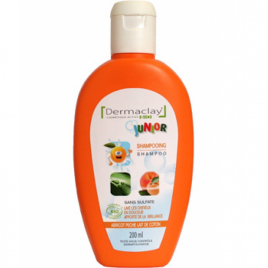 Dermaclay  Shampoing Junior bio Abricot Pêche lait de Coton 200ml