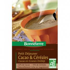 Bonneterre Petit déjeuner Cacao et Céréales 500g Bonneterre Céréales chocolat Bio Onaturel.fr
