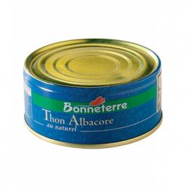 Bonneterre Thon Albacore au Naturel 112g Bonneterre Préparations salées bio Onaturel.fr