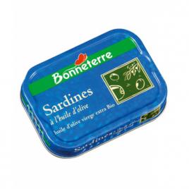 Bonneterre Sardines à l'huile d'Olive bio 115g Bonneterre Epicerie Onaturel.fr
