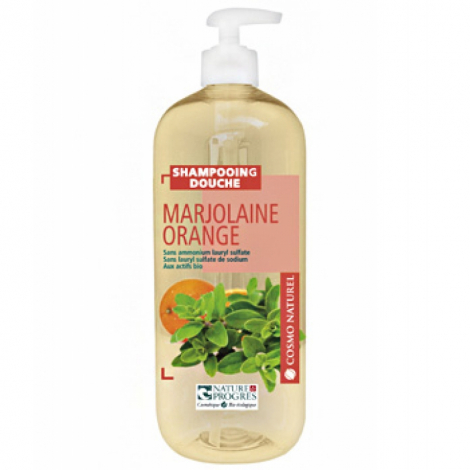 Cosmo Naturel Shampoing douche Marjolaine Orange 1L