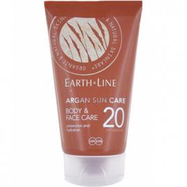 Earth Line Crème solaire Argan visage et corps SPF20 protection moyenne 150ml Earth Line Protection solaire Bio Onaturel.fr