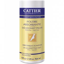 Cattier Poudre absorbante déodorant pieds Menthe Tea Tree naturelle 65g Cattier