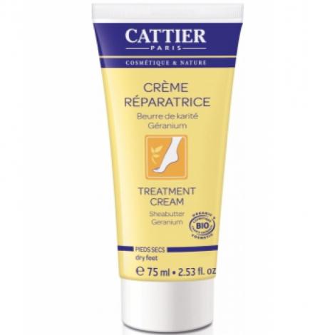 Cattier Crème réparatrice pieds secs au beurre de Karité Bio 75ml Onaturel