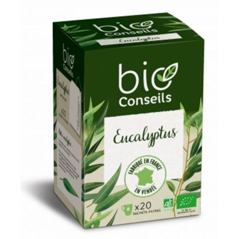 Bio Conseils Infusion d'Eucalyptus bio Bien être Respiratoire 20 sachets 32g Bio Conseils Rhume- Gorge-Bronches- Nez Onaturel.fr