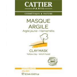 Cattier Masque argile jaune sachet unidose 12.5ml Cattier Soins à l'argile bio Onaturel.fr