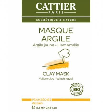 Cattier Masque argile jaune sachet unidose 12.5ml Cattier