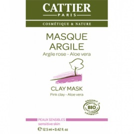 Cattier Masque argile rose Aloe vera sachet unidose 12.5ml Cattier