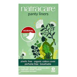 Natracare 18 protège slips coton bio naturels incurvés emballés