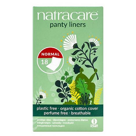 Natracare 18 protège slips coton bio naturels incurvés emballés Natracare Hygiène Onaturel.fr