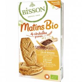 Bisson Matin bio Lin et Sésame 200g Bisson Biscuits Bio Onaturel.fr