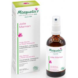 Mosqueta's Huile sèche de Rose Musquée Vergetures 100 ml Mosqueta's Accueil Onaturel.fr