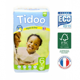 Tidoo 38 couches Taille 6 : XL 16 30 Kg