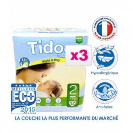 Tidoo Jumbo de 3 x 64 Couches MINI (T2) 3/6kg Tidoo Categorie temp Onaturel.fr