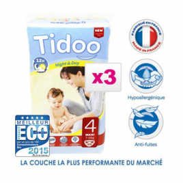 Tidoo Jumbo de 3 x 50 Couches MAXI (T4) 7/18kg Tidoo