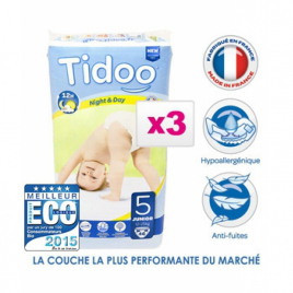 Tidoo Jumbo de 3 x 46 Couches JUNIOR (T5) 11/25kg