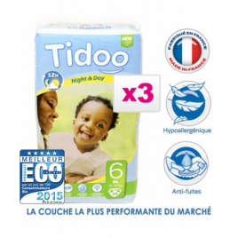 Tidoo Jumbo de 3 X 38 couches Taille 6 : XL 16 30 Kg
