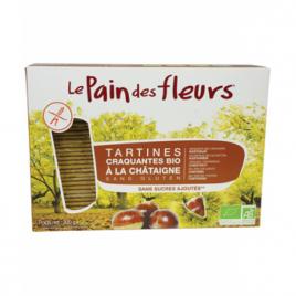 Le Pain Des Fleurs Tartines craquantes à la Châtaigne 300 g Le Pain Des Fleurs Accueil Onaturel.fr