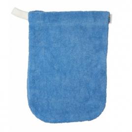 Popolini 1 gant de toilette en coton biologique Bleu givré Popolini Categorie temp Onaturel.fr