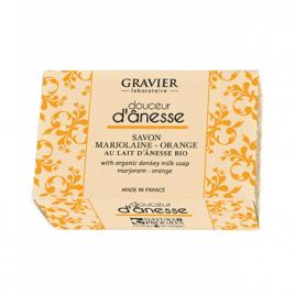 Gravier Savon Marjolaine Orange au lait d'ânesse 100g Gravier Savons Bio et Naturels Onaturel.fr