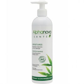 Alphanova Lait de massage Prévention Vergetures 400ml Alphanova Soins du corps Bio Onaturel.fr
