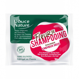 Douce Nature Fleur de Shampooing solide cheveux secs Argan Argile rouge 85g