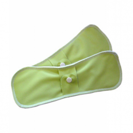 Lulu Nature Lot de 2 serviettes lavables Nuit Chanvre Vert