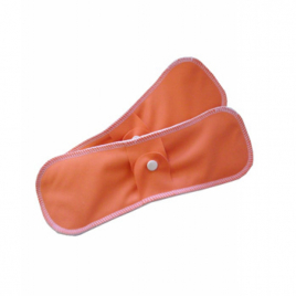 Lulu Nature Lot de 2 serviettes lavables Nuit Coton bio Orange