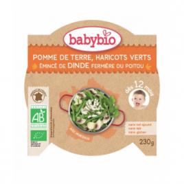 Babybio Mon Assiette Haricots Verts et Emincé de Dinde 230g dès 12 mois 230g Babybio Assiettes / Bols bébé bio Onaturel.fr
