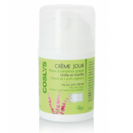 Coslys Crème de jour peaux à tendance grasse Alliance de 5 actifs 50ml Coslys Soins de jour Bio Onaturel.fr