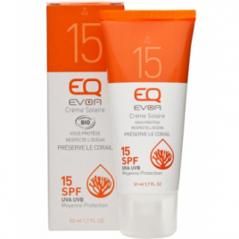 EQ Crème Solaire Moyenne Protection SPF 15 50ml EQ Protection solaire Bio Onaturel.fr
