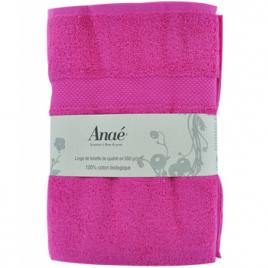 Anae Drap de bain Framboise 70x140cm 550g/m2 Anae Maison Bio Onaturel.fr