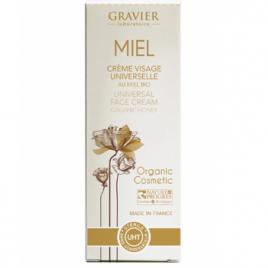 Gravier Crème Visage universelle au Miel sans conservateur 50ml Gravier Soins du visage Bio Onaturel.fr