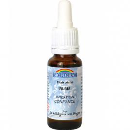 Biofloral Elixir Cristal N°21 Rubis Création et Confiance 20ml Biofloral Elixirs floraux - Dr Bach Onaturel.fr