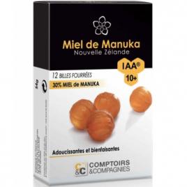 Comptoirs Et Compagnies Billes Fourrées 30% Miel de Manuka IAA10 54g Comptoirs Et Compagnies